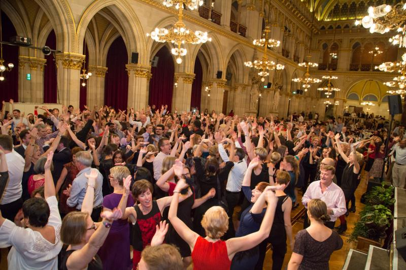 Dancing at the Gala Dinner Vienna City Hall